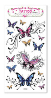 Wholesale Sexy Small Tattoos - Wholesale-Temporary Tattoo Stickers Waterproof Women Butterfly Chest small fake tattoo 2015 New Beauty Sexy Party Decoraiton