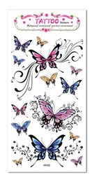 Wholesale Temporary Tattoo Chest - Wholesale-Temporary Tattoo Stickers Waterproof Women Butterfly Chest small fake tattoo 2015 New Beauty Sexy Party Decoraiton