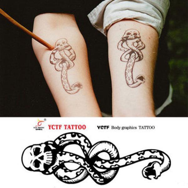 Tatuagem De Rena Atacado Hot Comensal Da Morte Etiqueta Do Tatuagem Tatuagem à Prova D água Etiqueta Do Tatuagem Tatoo Feminina De Hairlove 1544