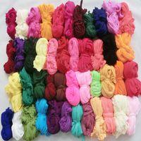 Wholesale Silk Material Flowers - Wholesale-(30pcs lot)multicolor single color nylon flower stocking silk flower material 51 colors