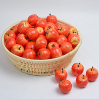 Wholesale Fake Fruit Decoration Kitchen - Wholesale-Moving Box 50pcs Artificial Lifelike Simulation Small Red Apples Set Decoration Fake Fruit Home House Kitchen Decor