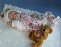 Girls Birth-12 months . Wholesale-2015 New commodity, 55cm silicone reborn sleep baby dolls toy for sale, birthday gift for child baby kid, girl brinquedos