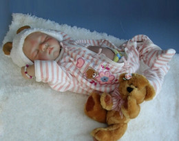 Wholesale Silicone Dolls For Sale - Wholesale-2015 New commodity, 55cm silicone reborn sleep baby dolls toy for sale, birthday gift for child baby kid, girl brinquedos