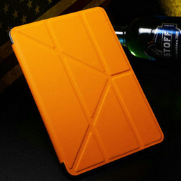 """Wholesale Smartcover For Ipad - Wholesale-5 Shapes Magnetic Stand PU Leather case for iPad Mini  Mini Retina 2 7.9"""" Smart cover Smartcover for iPad mini 3 Flip Design"""