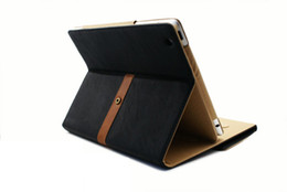 Wholesale Button Ipad Case - Wholesale-NewLuxury Button Belt Smart Stand Leather Case Cover For iPad 2 3 4Mixed colors Free Shipping