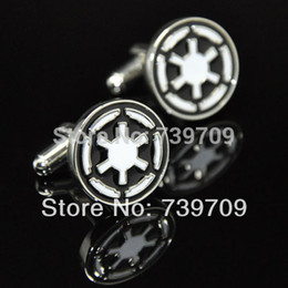 Wholesale China Link Wholesale - Wholesale-High Quality Brazil Hot Sale Brass Stamping Gemelos Men China Cheap Film Star War Check Link Novelty Suit Shirt Cufflinks