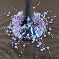 Wholesale Wedding Flower Vase Centerpiece - Wholesale-Free shipping 135CM Pearl Beads Garland with BRANCH Wedding Centerpiece Flower table AND vase Decoration DIY