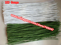 """Wholesale Floral Stems - Wholesale-Big Order Big Discount!! 600pcs X 18# Gauge Floral Stem Wire 11.4"""" In Green And White *Free Shipping*"""