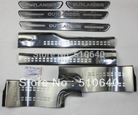 Wholesale Scuff Plate Door - Wholesale-High quality stainless steel inside external Scuff Plate Door Sill For 2015 Mitsubishi Outlander Samurai dr6