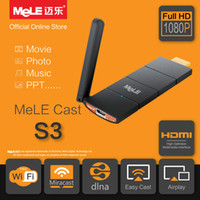 Wholesale S3 Tv Wifi - Wholesale-MeLE Cast S3 Smart TV Stick WiFi HDMI Dongle AirPlay EZCast Miracast Mirror DLNA Wireless Display Player for Android iOS Windows