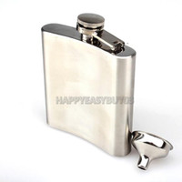 Wholesale-H3 # R in acciaio inox 6OZ Hip Flask alcool Whiskey Liquore
