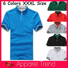 Barato Atacado Roupas De Marca Polo-Atacado-New Sports Men Polo camisas, XXL XXXL Marca Cotton Causul Polo Men Top Jaser Underwear Men's Clothing Tops Tees