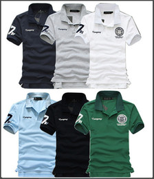 fashion polos for men Australia - Wholesale-New Summer Cotton Fashion Slim Short Sleeve Embroidered Men Casual Shirts for men   camisa masculina Men's Polos
