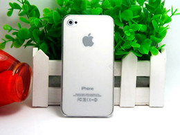 Wholesale Iphone Cute Case China - Wholesale-7 Cute Colors 1Pcs lot Ultra-thin Cases Cover For Apple iPhone 4 4s Case For iPhone4 phone Shell China Drop Shipping--PSH-S09MS4