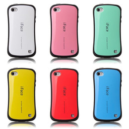 Wholesale Iface 4g - Wholesale-Candy Color Korea Style Shock Absorbing iFace case 2 in 1 TPU+PC Hard Case Silicone Cover for iphone 4 4S 4G free shipping