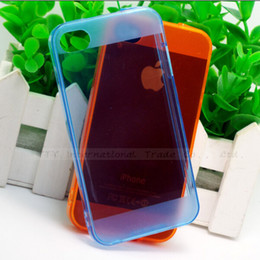 Wholesale Transparent Iphone4s Cases - Wholesale-MOQ:1PC Fully Transparent Dirt-resistant Protective Silicone For iPhone4S Case For iphone 4 4s Cover Shell Low Price::GJS LSNG06