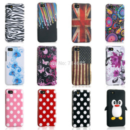 Wholesale Silicon Flag - Wholesale-Fashion TPU Silicon Phone Case for BlackBerry Z10 Cover Skin BlackBerryZ10 Polka Dots S Line Butterfly Flower Flag