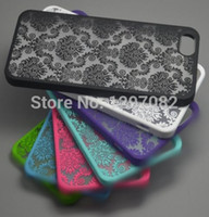 Wholesale Iphone Case 4s Flower Pattern - Wholesale-2015 top selling Damask Vintage Flower Pattern Fashion Luxury Phone Case Cover for Apple IPhone 4 4S 5 5S 6 6 Plus Cases EC127