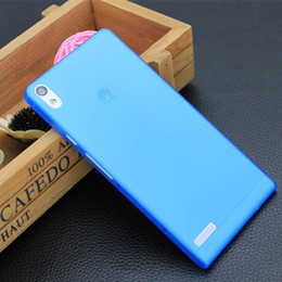 Wholesale Ascend P6 Accessories - Wholesale-Case for Huawei Ascend P6 0.3mm Translucence Cover Free shipping mobile phone bags & cases Brand New Arrive 2015 accessories