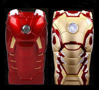 """Wholesale Iron Led Case Iphone - Wholesale-New Version 3D Cool Hero Avengers Iron Man Ironman Armor Led Flash Light Hard Case Cover For Apple iphone 5 5S 6 4.7"""""""