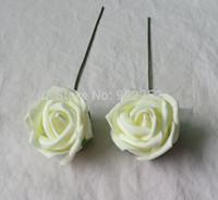 Wholesale Wholesale Floral Foam Balls - Wholesale-5cm cheap artificial floral foam eva roses,diy craft arrangements kissing ball&bridal bouquet&flower led&decoration