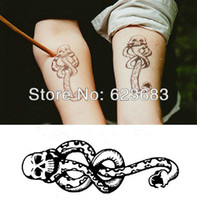 Wholesale Death Eater - Wholesale-Free shipping wholesale 100pcs lot Harry Potter Hogwarts Wizard Dark Mark Death Eater Temporary TATTOO Xmas