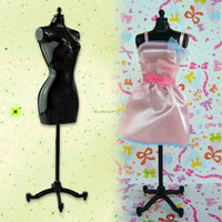 Wholesale Dress Model Mannequins - Wholesale-10PCS LOT Woman Mannequin Fashion Clothes Dress Display Model Stand For Dolls ES1128