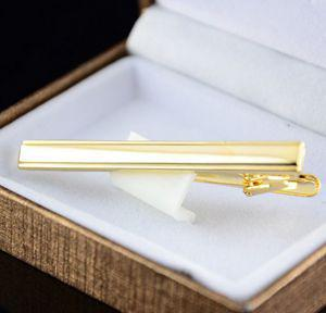 best selling Wholesale-New Arrival Mens Metal Gold Plated Tone Simple Necktie Tie Pin Bar Clasp Clip For Sale