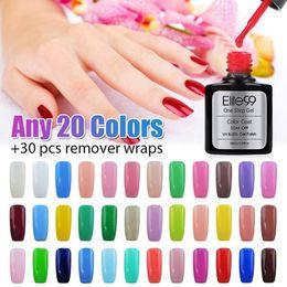Wholesale One Step Gel Nails - Wholesale-Elite99 Color Soak off Gel Polish Full Set UV Gel Kit Manicure Gel Polish 10ml choose 20 colors One Step UV Nail Gel