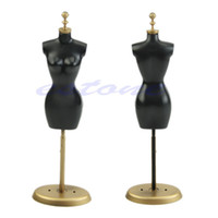 Wholesale Dress Model Mannequins - Wholesale-Free Shipping 1x Barbie Doll Mannequin Model Display Gown Dress Form Clothes Rack Stand Holder