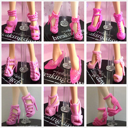 Girls Shoes Canada - Wholesale-30Pairs lot Most Beautiful Varities Of Styles Colors Top Quality Sandals Boots For  Original Fashion Doll Shoes Girl Gift