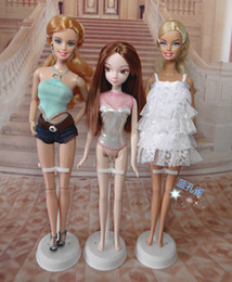 Wholesale Display Dolls - Wholesale-Free Shipping,new 10pcs lot white Doll Stand Display Holder doll accessories For Barbie Doll,doll supports for barbie