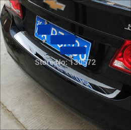 Wholesale Rear Bumper Plate - Wholesale-Stainless Steel Rear Bumper Protector Sill Trunk Tread Plate Trim Fit For Cruze 2009-2015