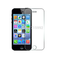 Wholesale Iphone5 Glass Lcd - Wholesale-New Tempered Glass LCD Screen Protector for pelicula de Apple iPhone 5 5S 5C S iphone-5c iphone5 vidro temperado protective film