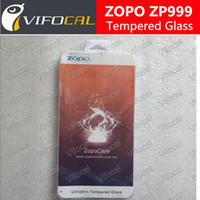 Wholesale Zopo Phones - Wholesale-100% Original ZOPO ZP999 Tempered Glass Film Screen Protector Smart Mobile Phone + Free Shipping +Tracking Number - In Stock
