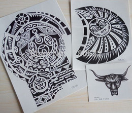 Wholesale Tattoo Chest - Wholesale-3 sheets Tatuagem Dwayne Johnson Star 3D Big Size Large Temporary Tattoo Stickers for Men Chest and Shoulder Tattoos