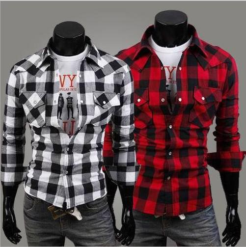 Red Checkered Long Sleeves Shirt Online | Red Checkered Long ...