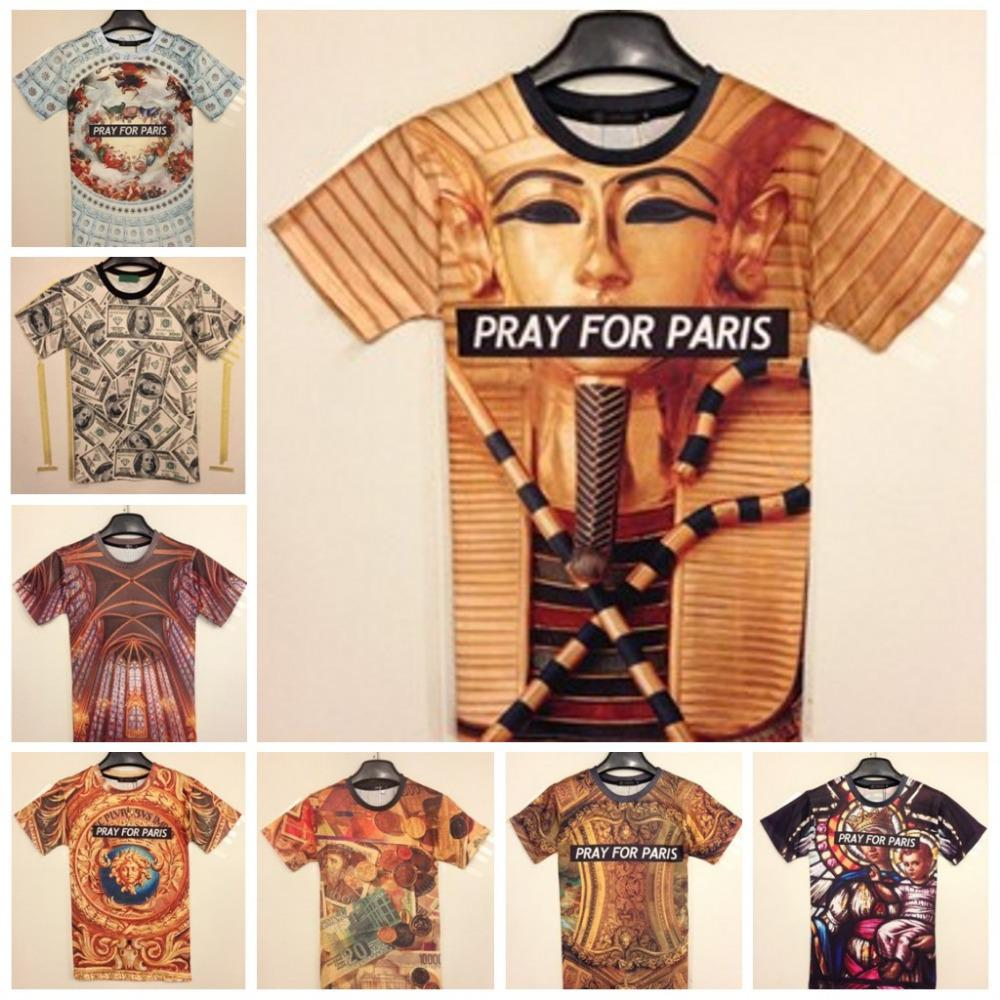 Wholesale Fashion Animal Print 3d T Shirts 3d Print Pray For Paris ...