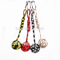 Wholesale Key Lanyard Paracord Monkey Fist Keychain Wooden inside