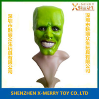Wholesale X MERRY Stag THE MASK Jim Carrey LATEX MASK Halloween Costume Prop