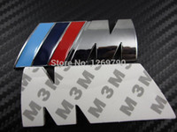 Wholesale Hood Stickers - Wholesale-20pcs lot ABS M POWER CAR 3M STICKER BADGE Emblem M Logo POWER SPORT HOOD BOOT Free shipping