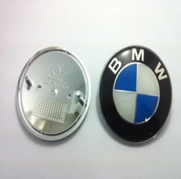 Wholesale M3 Car Badge - Wholesale-82MM FRONT HOOD REAR TRUNK BADGE ROUNDEL FOR m3 m5 X1 X3 X5 X6 E36 E39 E46 E30 E60 E92 Car Accessories styling