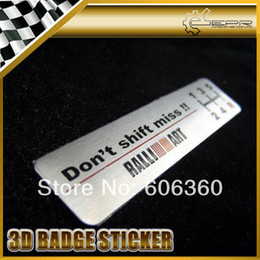 Wholesale Ralliart Evo - Ralliart 80x18mm 3M Tape 3D Metal Carved Badge Emblem Sticker MITSUBISHI EVO FTO EVOLUTION