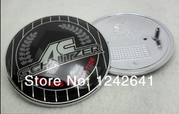 Wholesale Ac Schnitzer Badges Emblems - Wholesale-2pcs X 82mm 74mm Chromed Hood Trunk Emblem Badge for Car AC Schnitzer Car 51148132375 Free Shipping By Hongkong Post