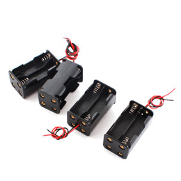 Wholesale Aa Connector - 4pcs Cable Connector Battery Case Holder Box for 4 x AA Batteries