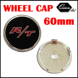 Wholesale Center Hubs For Wheels - Wholesale-4 X 60MM R T RT BLACK CAR WHEEL Hub Center LOGO Caps Metal Aluminum emblem Fits for Dodge Charger Ram 1500 Challenger #SO296