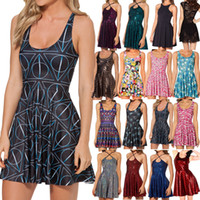 Wholesale Deathly Hollows - Wholesale-2015 Casual Dress New SheOutfit Harry Porter Hogwarts Deathly Hollows Skater Dress Print Dresses Novelty Plus Size