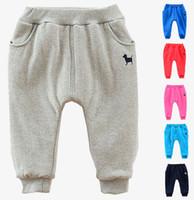 Wholesale Childrens Harem Pants - Wholesale-Retail New Winter Childrens Harem Pants Boys Casual Cartoon Warmer Pants For 2-7Yrs Kids Thicker Pants Babi Trouser Clothing