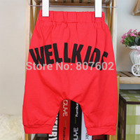 Wholesale Harem Pants Kids Red - Wholesale-boy pants Kid Harem pants 12colors you can mix any sizes and colors red bottoms