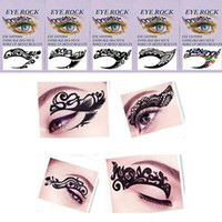 Wholesale Tattoo Liner Diy - Wholesale-2015 new fashion 5 designs chosen eye art tattoos temporary stickers eye liner DIY decorations Free Shipping